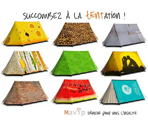 Tentes personnalisées by MAVIP()