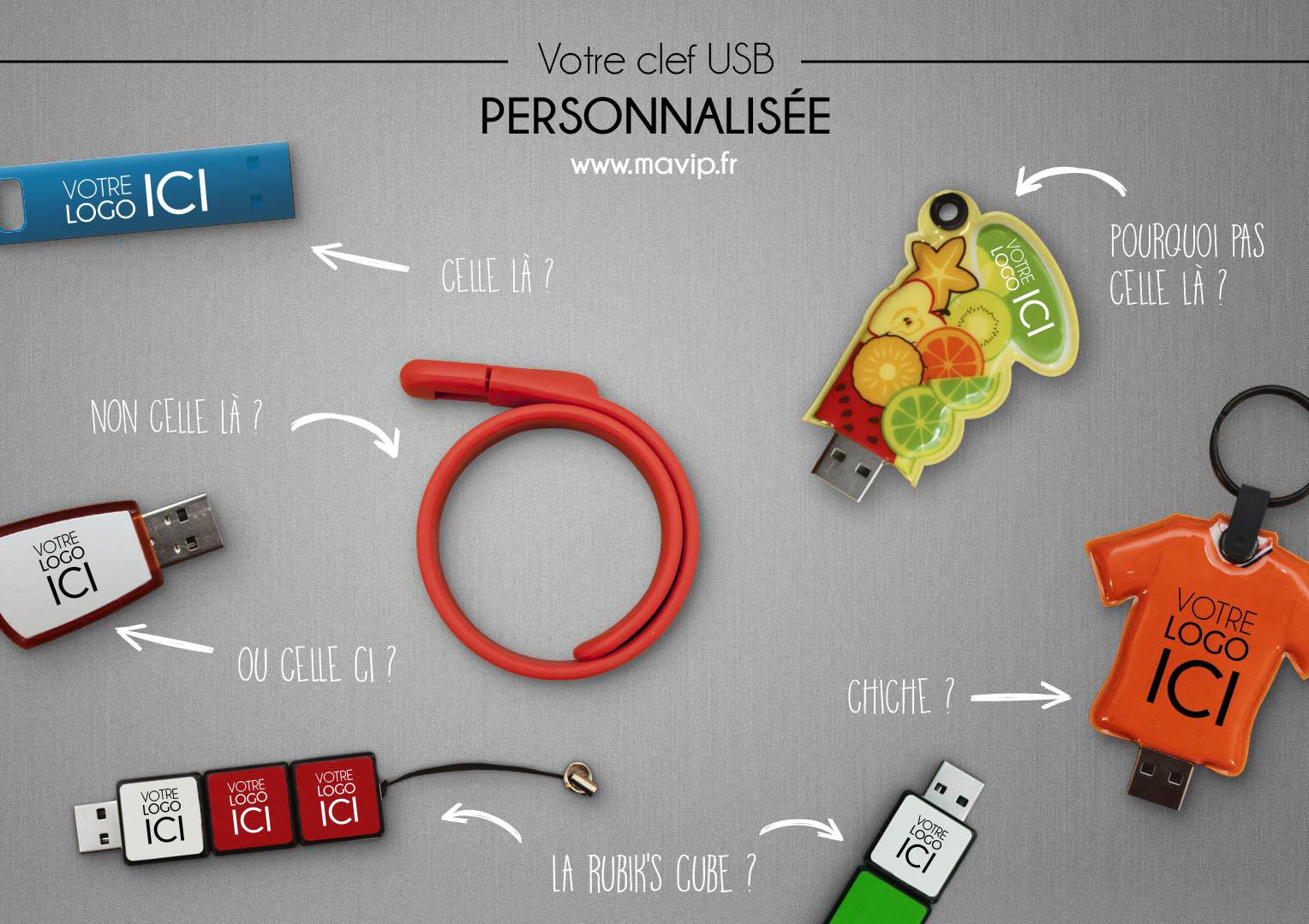 Clef USB personnalisée
