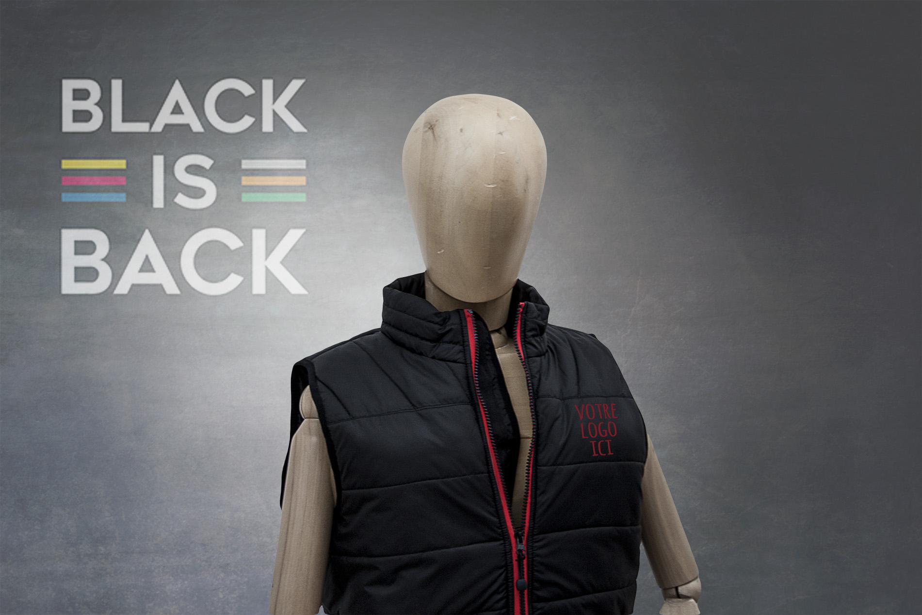 Black is back la collection de textile publicitaire #votrelogoici