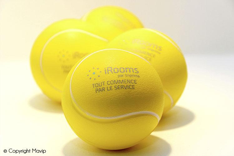 Les anti-stress en forme de balles de tennis réalisés par Mavip