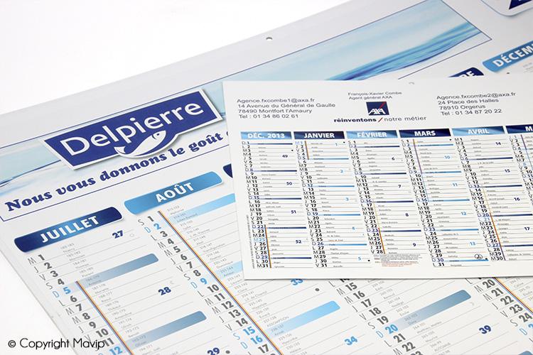 calendrier Delpierre réalisé par Mavip