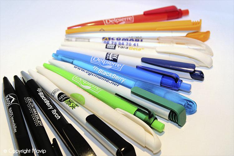 les objets publicitaires de Mavip dans la catégorie bureau - stylos