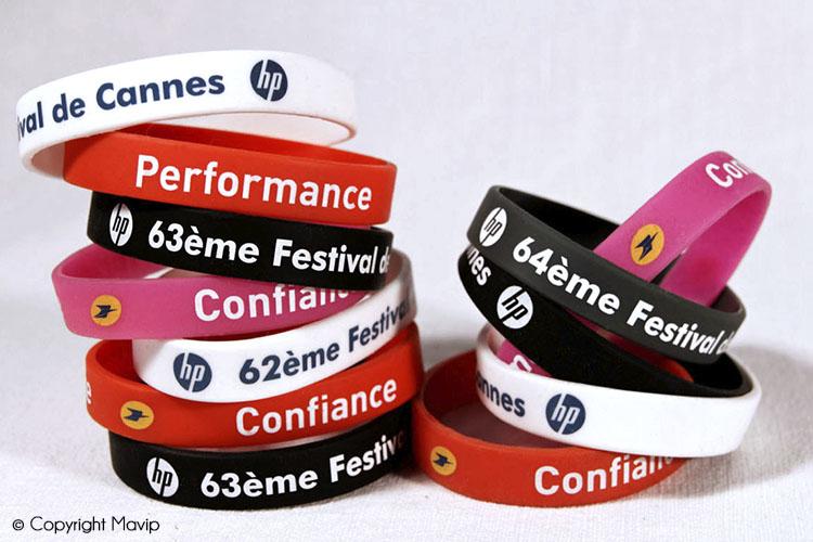 les objets publicitaires de Mavip dans la catégorie évènementiel bracelets