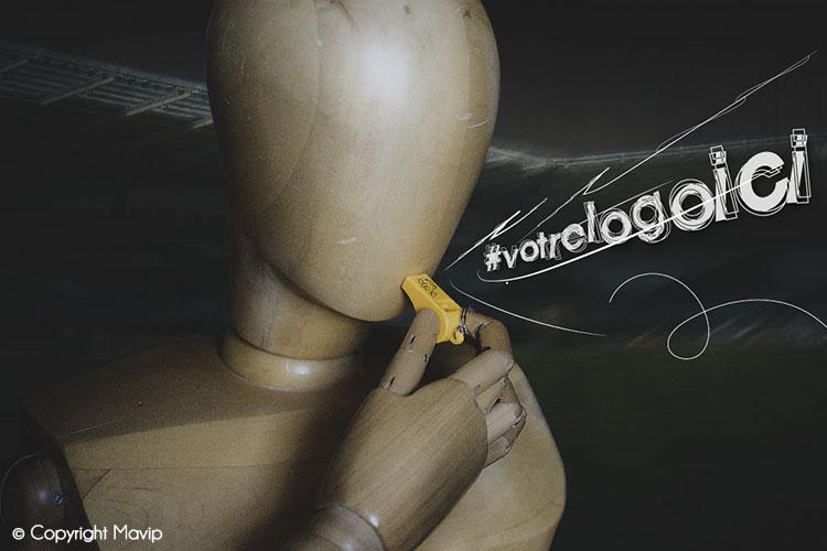 Goodie Boy et ses objets publicitaires avec un sifflet de foot #votrelogoici
