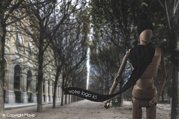 Goodie Boy et ses objets publicitaires avec un bonnet et une écharppe #votrelogoici