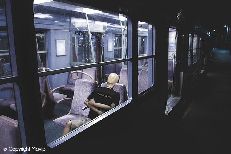 Goodie Boy et ses objets publicitaires dans la train à St-Cloud #votrelogoici