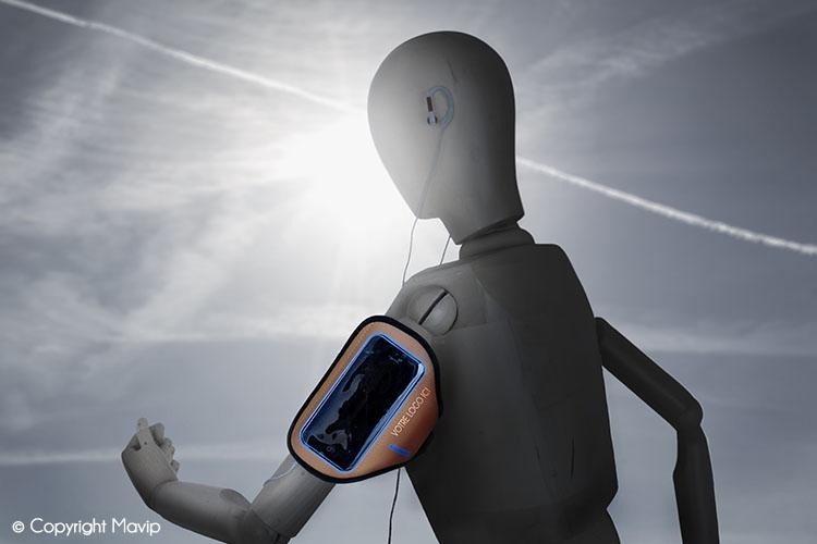Goodie Boy et ses objets publicitaires avec un brassard de course à pied #votrelogoici