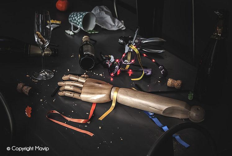 Goodie Boy et ses objets publicitaires lendemain de jour de l'an