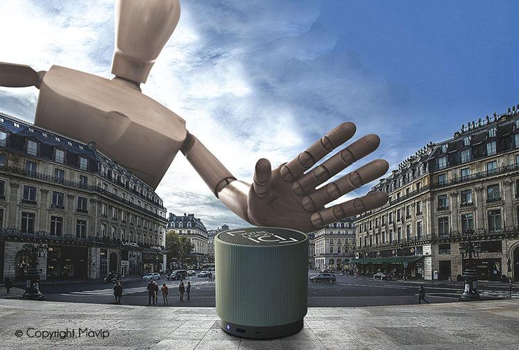 Goodie Boy et ses objets publicitaires enceinte bluetooth à Opéra
