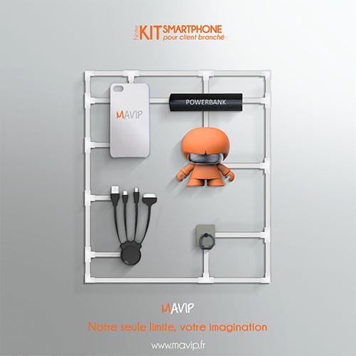 boîte à idées Les kits clients réalisables par Mavip, agence de communication #votrelogoici