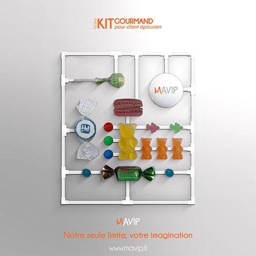 Les kits clients réalisables par Mavip, agence de communication #votrelogoici