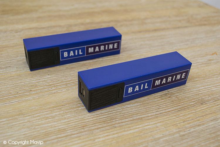 Chargeurs smartphones réalisés pour Bail Marine par Mavip