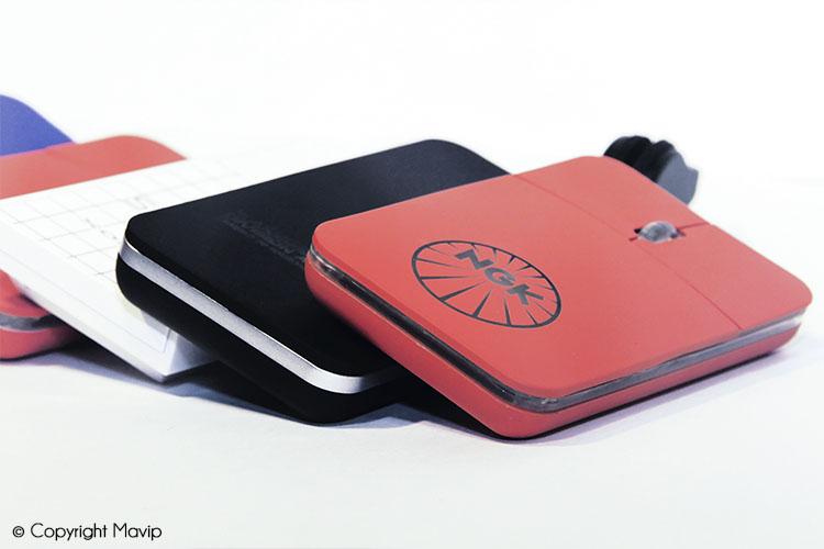 Les souris d'ordinateur avec logo réalisées par Mavip