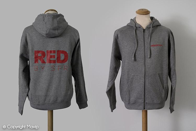 les objets publicitaires de Mavip dans la catégorie textile pulls et sweatshirts