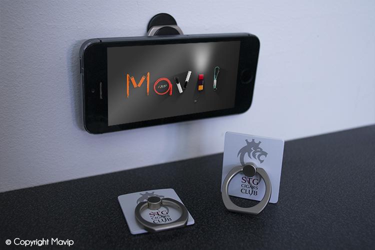 Supports pour smartphones réalisés pour STG par Mavip