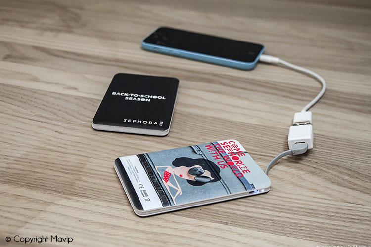 les objets publicitaires de Mavip dans la catégorie High-tech - chargeurs de téléphones
