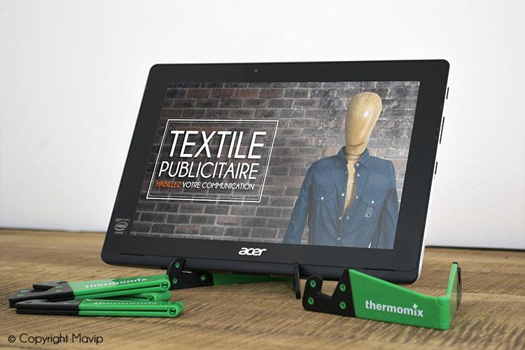 Supports pour tablettes réalisées pour Thermomix