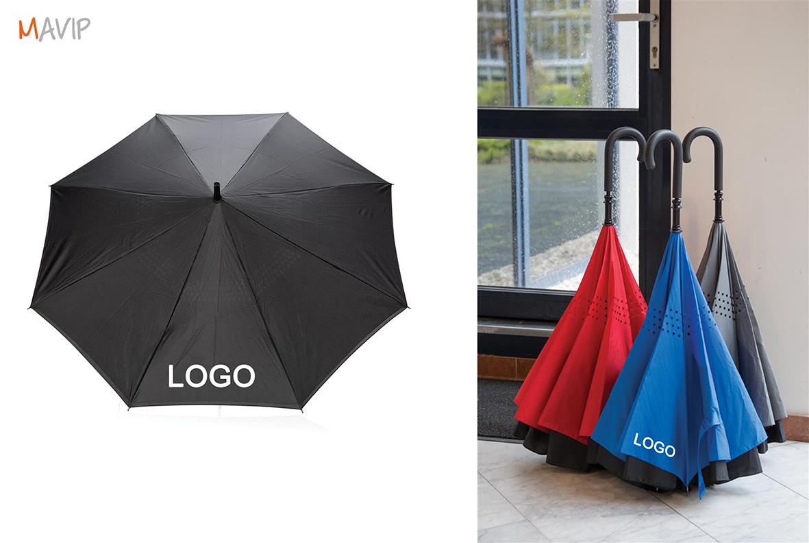 Le pourquoi pas du mois de septembre 2017 - Parapluie réversible avec votre logo