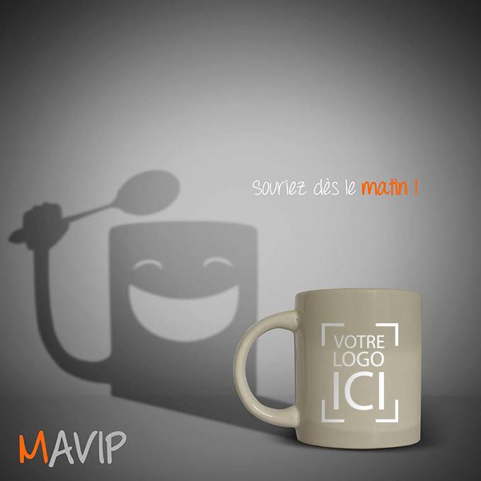 L'ombre du mug publicitaire