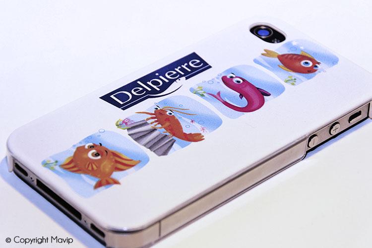 Coques smartphones publicitaires réalisées par Mavip