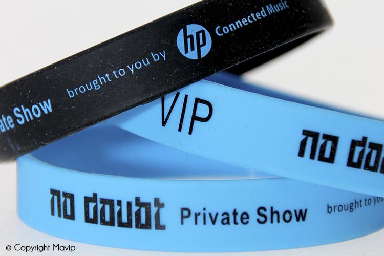 Bracelets publicitaires réalisés par Mavip