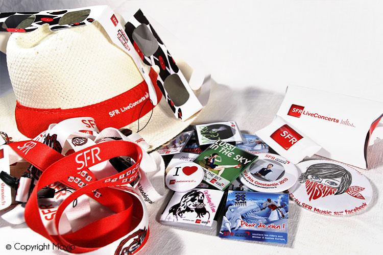 Kits publicitaires réalisés par Mavip