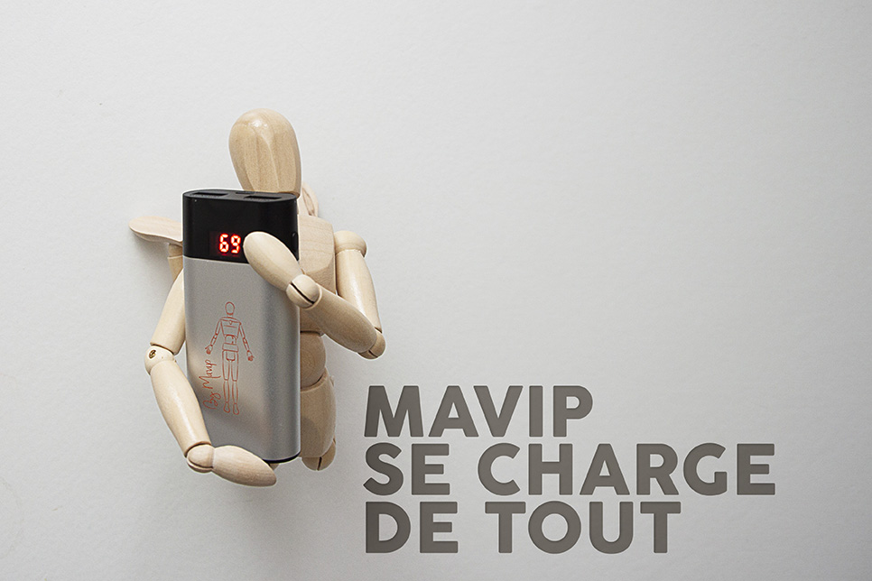 Objet média carnet personnalisé avec logo entreprise Mavip