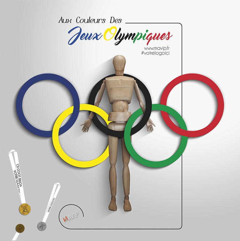 Les objets publicitaires aux couleurs des jeux olympiques