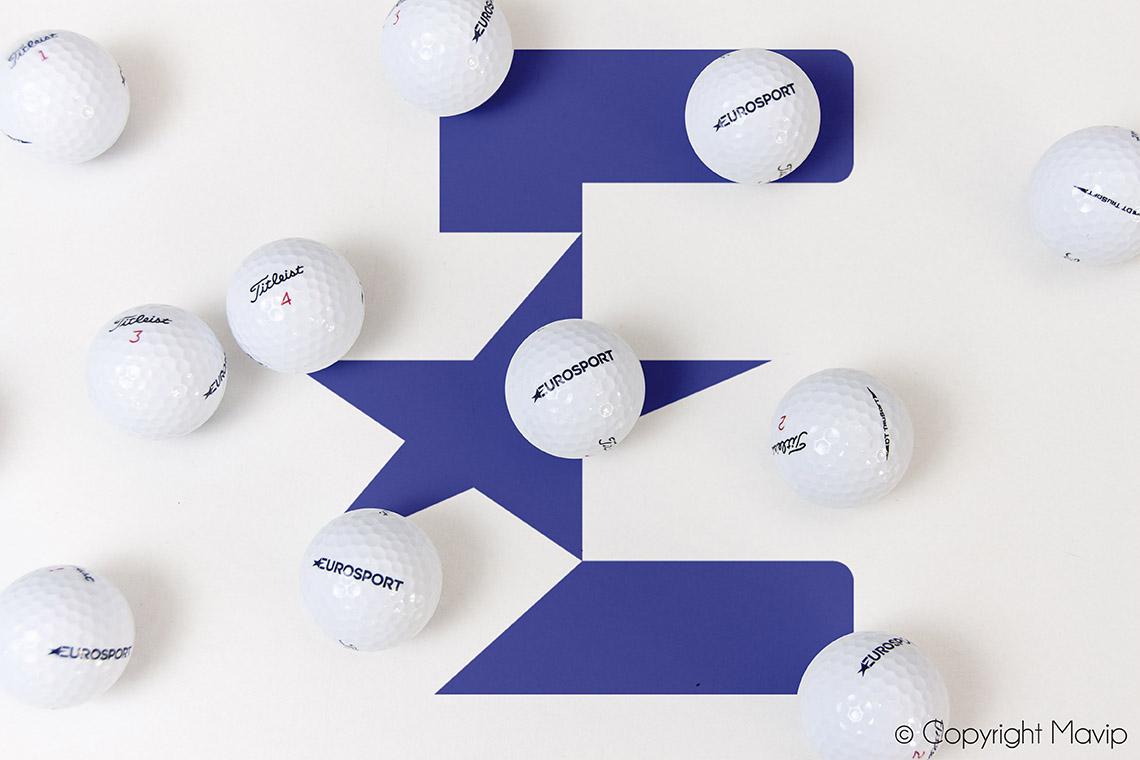 Balles de golf logotée personnalisée avec votre logo