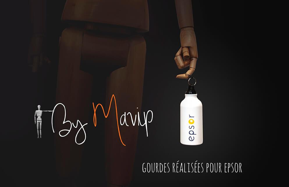 Bouteilles réalisées pour Epsor par Mavip