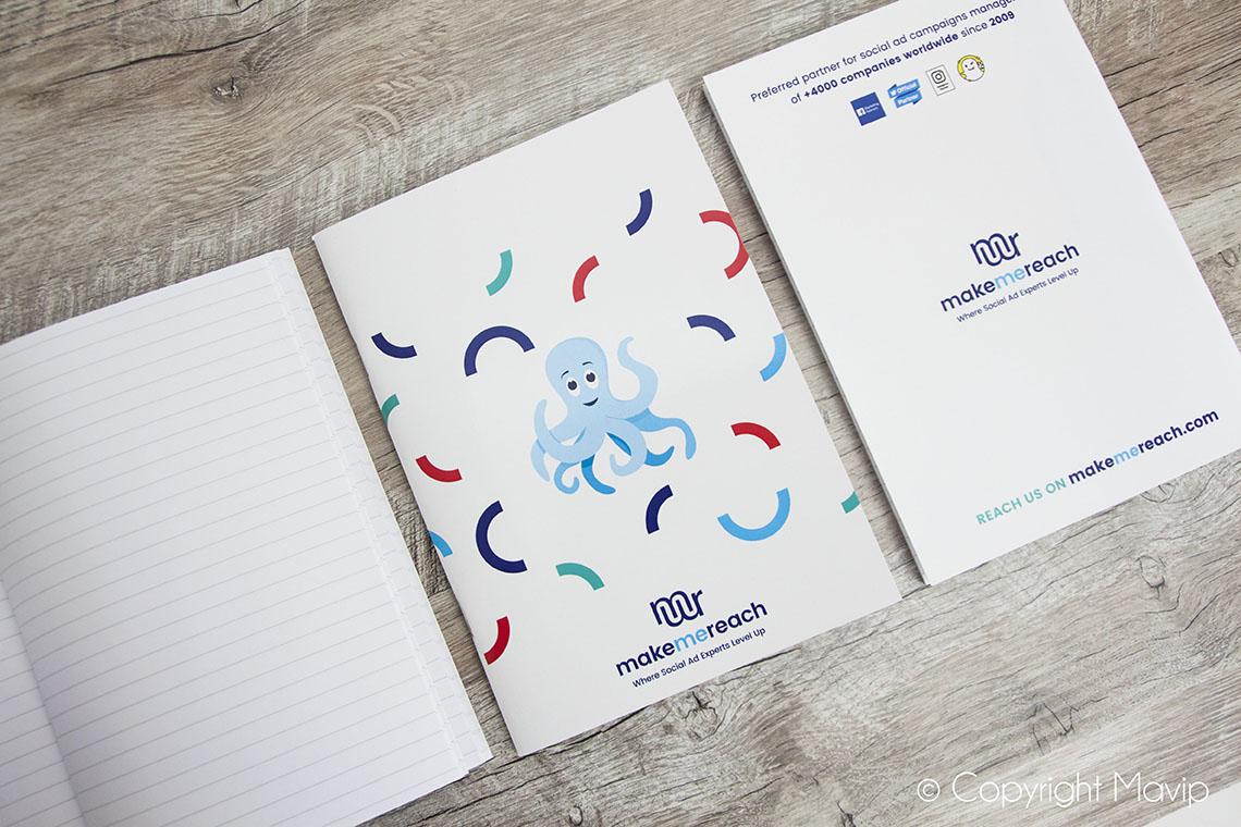 Carnet publicitaire personnalisable avec logo objet média by Mavip