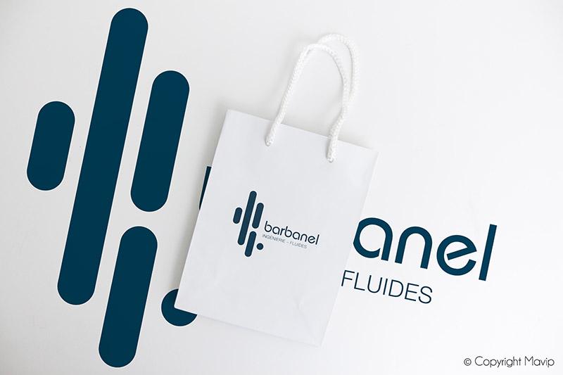 Sacs en papiers personnalisable avec logo d'entreprise