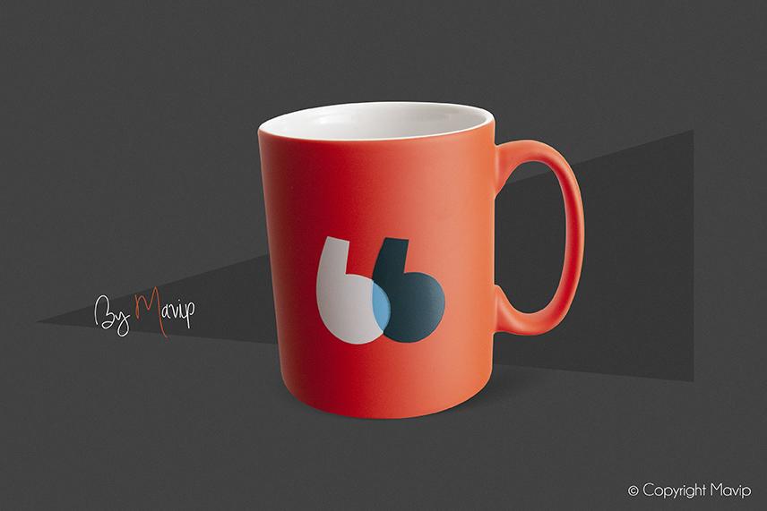 Mugs personnalisés par Mavip, agence de communication par l'objet