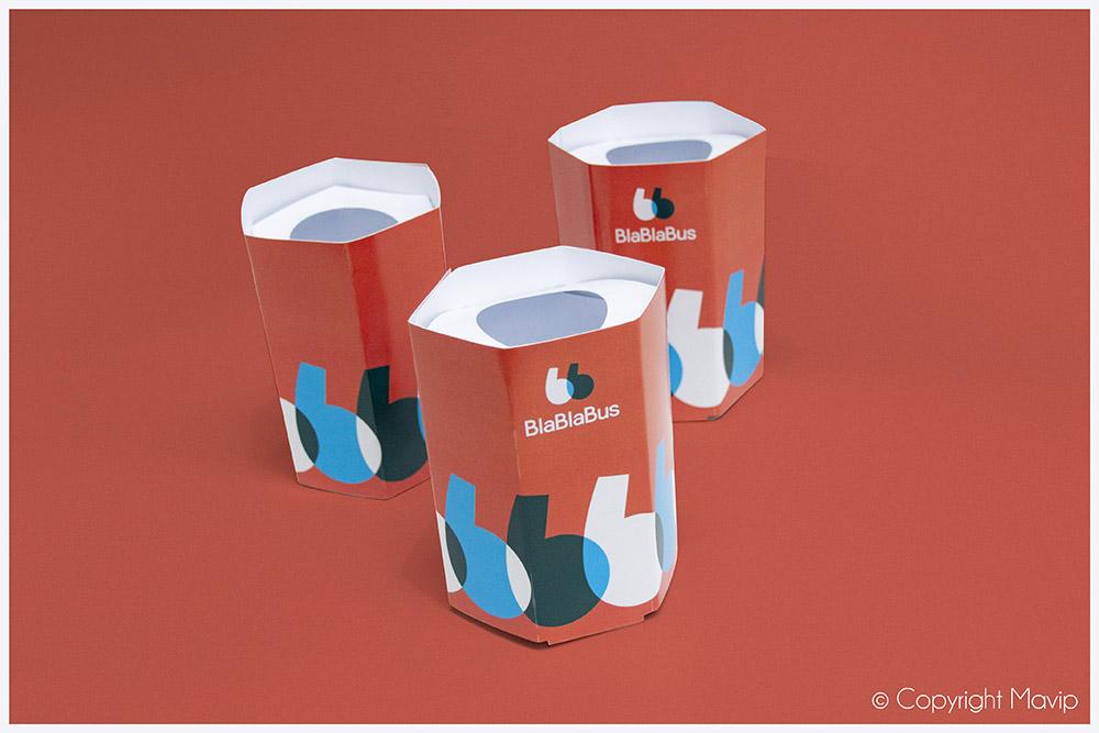 Pots à crayons réalisés pour Blablabus par Mavip