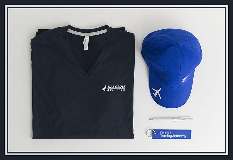 Kit d'objets publicitaires réalisé pour Dassault par Mavip