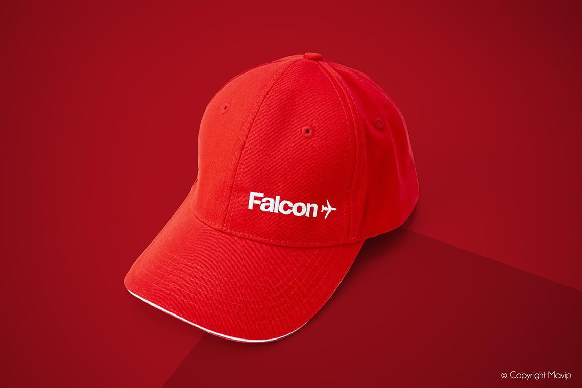 Casquettes réalisées pour Falcon par Mavip
