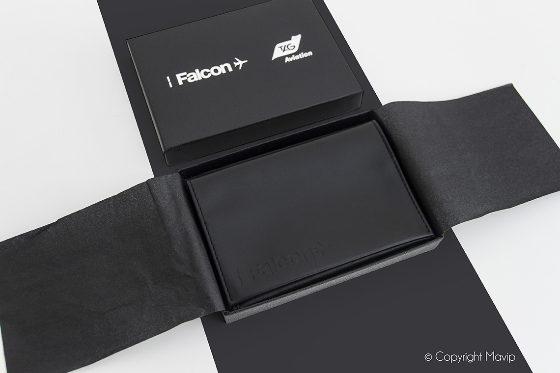 porte-cartes personnalisé avec tampographie logo