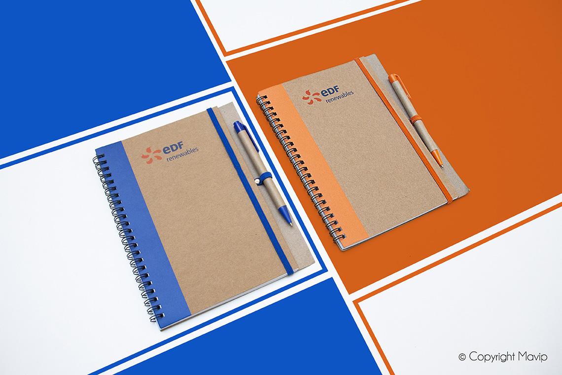 Carnet personnalisable avec logo d'entreprise by Mavip objet média