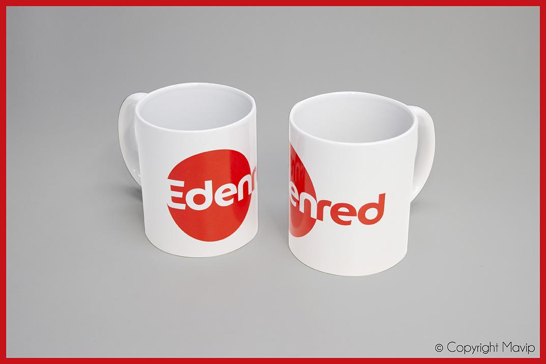Mugs réalisés pour Edenred par Mavip