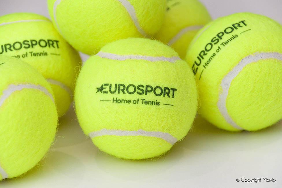 Balles de tennis réalisées pour Eurosport