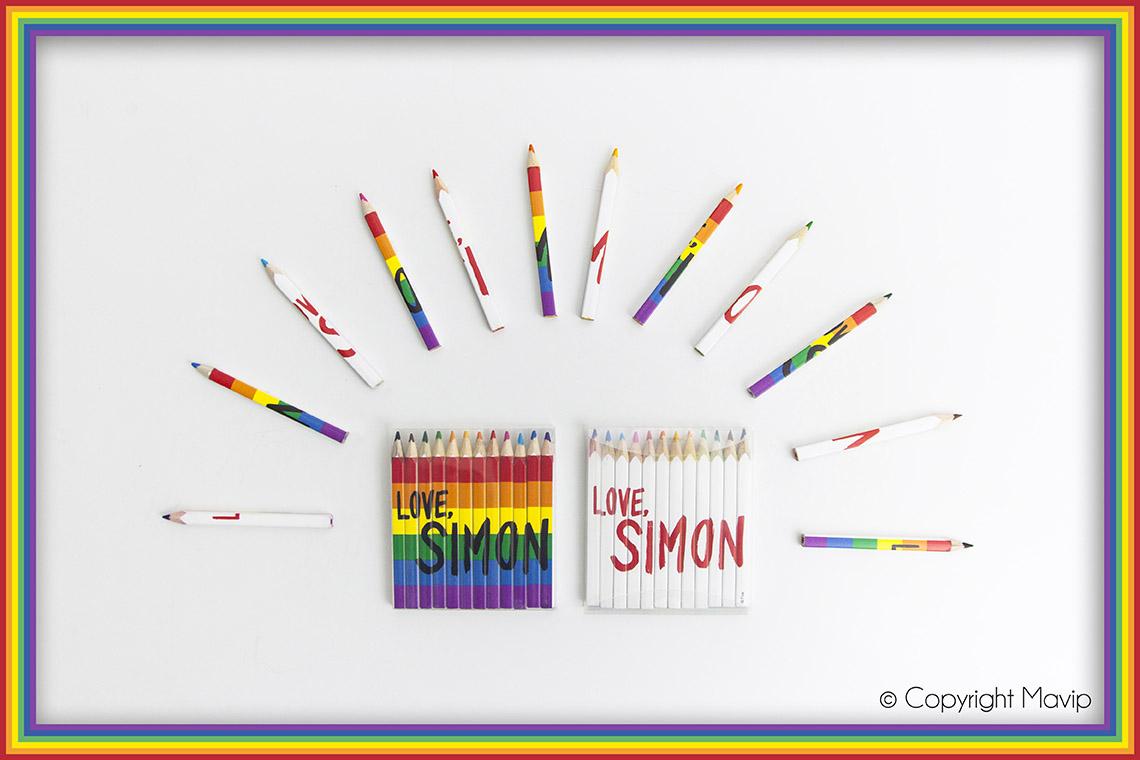 crayons de couleurs personnalisés avec logo