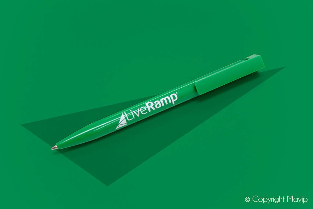 Stylos réalisés pour Liveramp par Mavip