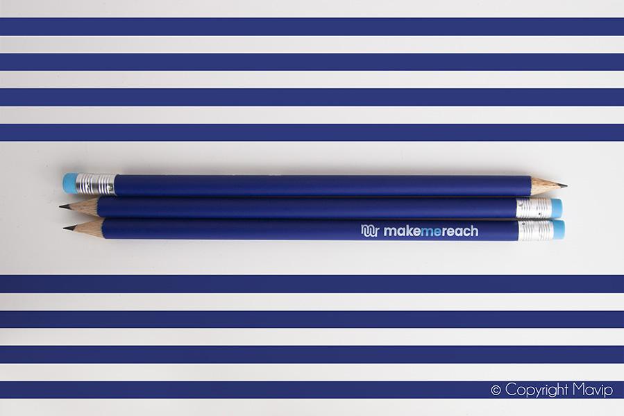 Crayon à papier publicitaire objet média avec logo d'entreprise by Mavip