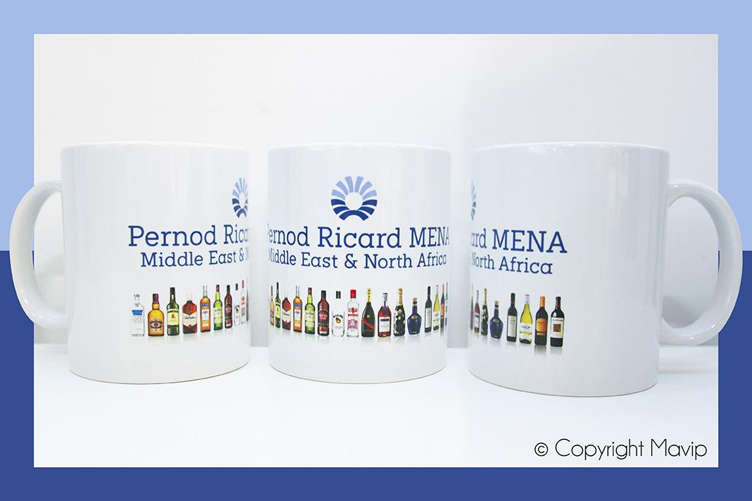 Mugs personnalisés pour Pernod Ricard par Mavip