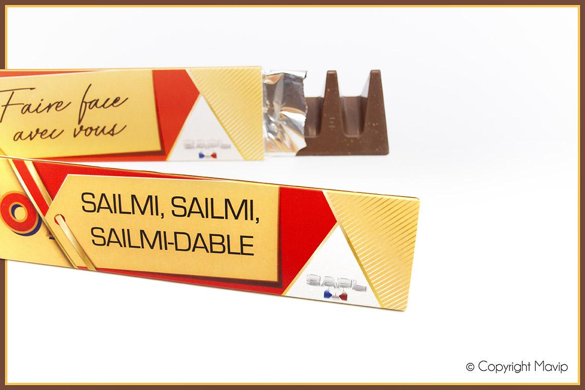 Chocolats personnalisés par Mavip