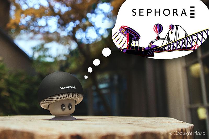 Enceinte bluetooth réalisée pour Sephora par Mavip