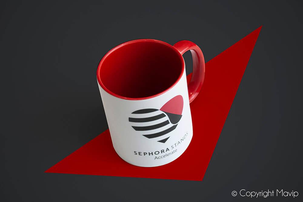 Mugs personnalisés réalisés pour Sephora par Mavip