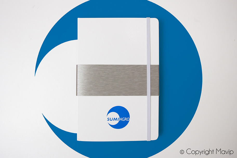 Carnet personnalisé couleur et logo d'entreprise