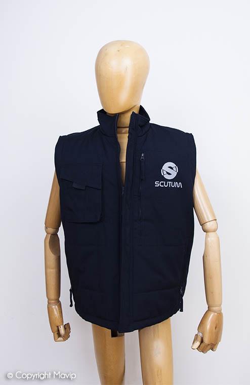 textile publicitaire Bodywarmers réalisés par Mavip avec votre logo ici