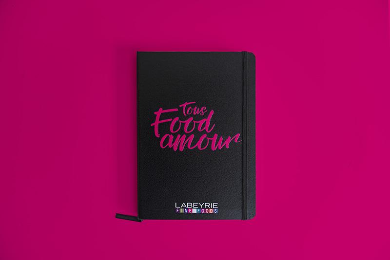 Carnets personnalisés avec logo de Labeyrie fine Foods par Mavip